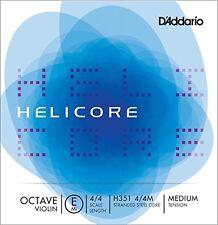 Helicore Octave Violin Single E String, 4/4 Scale, Medium Tension