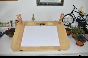 Zeichentisch Tragbare Holz Zeichenstaffelei Zeichentafel Zeichenbrett  A3