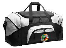 Flag Soccer Ball Duffle Gym Bag or Travel Duffel