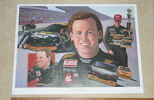 NASCAR RUSTY WALLACE MILLER GENUINE DRAFT #2 SIGNED COLOR POSTER 18 X 24 STARKE