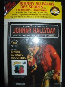 CD + LIVRE JOHNNY HALLYDAY / LA COLLECTION OFFICIELLE N° 62 / AU PALAIS / NEUF