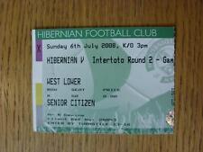 06/07/2008 BIGLIETTO: Hibernian V ELFSBORG [INTERTOTO CUP]