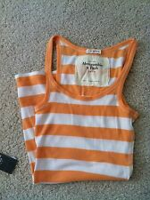NWT ABERCROMIE AND FITCH ORANGE STRIPE TANK T-SHIRT  S