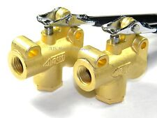 "Carpet Cleaning - Brass 1/4"" ANGLE VALVES for Hoses, Wands (Set of 2)"