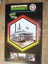 Affiche d'époque RENAULT MISSISSIPI  DCF Marketing  1982 Bateau vapeur