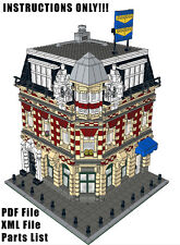 Lego Custom Modular Building Corner Shop & Apartments INSTRUCTIONS ONLY!! 10182