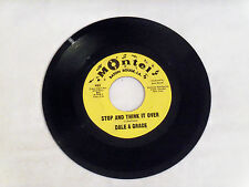 "ORIGINAL*DALE & GRACE*STOP AND THINK IT OVER / BAD LUCK*MONTEL 922*1963*7"" R & R"