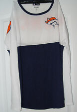 New Ladies Womens Denver Broncos Long Sleaved Shirt NFL Shop Authentic Medium