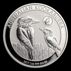 2017 1 oz 999 Silver Australian Kookaburra Shark Privy GEM BU Coin Mint Roll #5