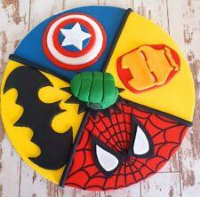 Edible Fondant Avengers/DC 8 Inch Cake  Topper  with Hulk Fist Centre!