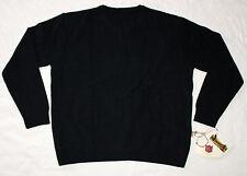 New Mens ILIAC GOLF Black Crew Neck Sweater Organic Bamboo - Made in USA - Large