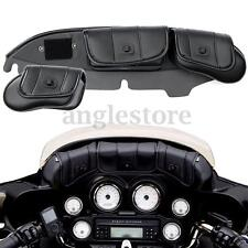 3 Pouch Pocket Fairing Windshield Bag For Harley Electra Street Glide Touring US