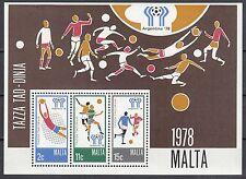 Malta Block 5 postfrisch Fußballweltmeisterschaft in Argentinien