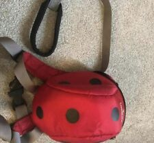 NEW LittleLife Toddler Ladybird Rucksack, Reins and built in hood.
