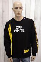 OFF WHITE Taglia 2XL Felpa Uomo Maglione Nero Man Casual Pull Pullover Sweater