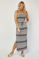 Womens Folia Maxi Summer Dress Elephant Print Strapless Cold Shoulder RRP £22.00