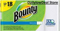 Bounty Select-A-Size Paper Towels, White - 12 Giant Rolls = 18 Regular Rolls