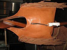 NWT  FRYE   Farrah Fringe Leather Shoulder Bag COGNAC