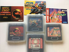 4x Game Gear Spiele (Kassetten & Koffer) Mortal Kombat, GP Rider, Rayearth etc