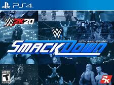 WWE 2k20 Smackdown: 20th Anniversary Edition [SONY PlayStation 4,2k JEUX] NEUF