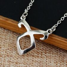 Color Chain Necklace Unisex Jewelry Gifts New Fashion Bones Rune Pendant Silver