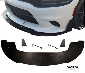 FRONT SPLITTER+WINGLETS+2 SUPPORT RODS 15-20 CHARGER SRT392, Scatpack, HELLCAT