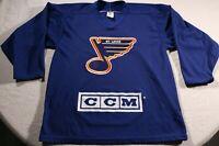 Vintage 90s St. Louis Blues CCM Maska Practice Jersey Training Camp M Hockey NHL
