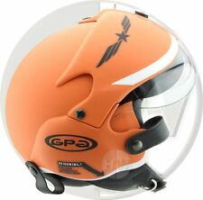 OPEN FACE SCOOTER HELMET OSBE GPA AIRCRAFT TORNADO ORANGE ARMY M 57-58 cm