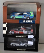 Minichamps 1/43 x3 models Matra Simca, Mercedes W196,Audi R10