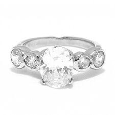 Diamond Engagement Ring 18k Gold GIA Certified Oval Cut Diamond 2.30 Carat