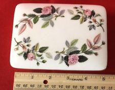 Wedgwood Trinket Fine Bone China England Floral Design