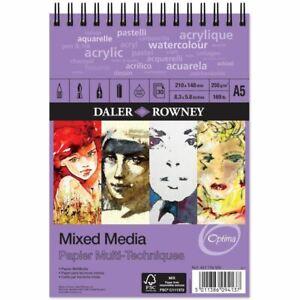 Daler Rowney Optima Mixed Media Spiral Sketchbook A5 250gsm