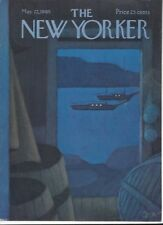 COVER ONLY ~The New Yorker magazine ~  MARTIN ~ May 22 1965 ~Anchored Sailboats