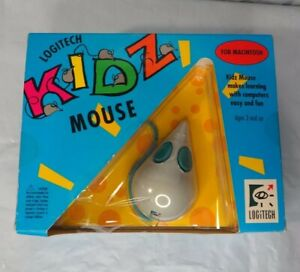 Logitech Kidz Mouse 1992 Children's Serial Apple Macintosh Mac NIB 2 Button Rare