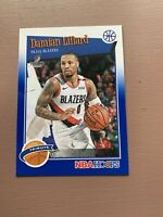 2019-20 Panini - Hoops Basketball: Damian Lillard - Blue