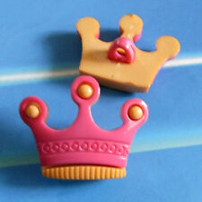 12 Crown King Queen 2 Parts Kid Novelty Craft Sew On Buttons Hot Pink K508