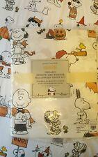 POTTERY BARN KIDS Peanuts Snoopy Charlie Sheets FULL vampire pumpkin Halloween
