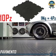 10 Piastrelle Pavimento Garage Officina Flessbile Rivestimento Polivinile Nero