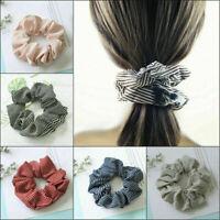 1PC Ponytail Bun Tie Scrunchies Flamingos Hair Band Elastic Scrunchie Hair Ring