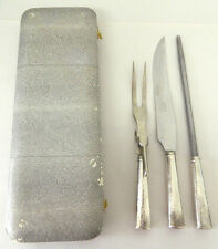 Vintage Sterling Silver Carving Set - NSC Stainless - Gentry Sheffield England
