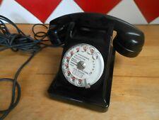 ANCIEN TELEPHONE A CADRAN EN BAKELITE NOIR  1961 DECO COLLECTION