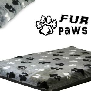 """FAUX PAWS – PET MAT. Very Soft Fur, Removable Cat & Dog Bed Covers, 4"""" Thick"""