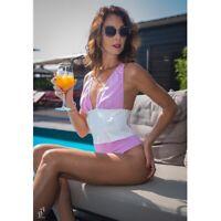 Patrice Catanzaro - Vichy - Body string tissu coton vichy rose & taille vinyle
