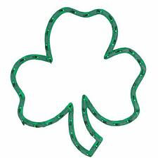 "Impact 16"" Lighted St. Patrick's Day Irish Shamrock Window Silhouette Decoration"