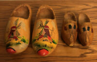 Vintage Dutch Decorative Shoes Hand Painted With A Small Pair Made In Holland