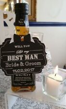 Rustic Vintage 'Will You Be My Best Man Groomsman Usher?' Personalised Tag Card.