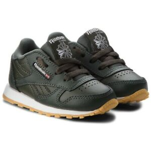 Reebok Infant Classic Leather Trainers Children baby Shoes CN5615 - DARK CYPRESS