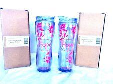 2 ea Water Bottle Horizon of Hope 16 oz Longaberger New Breast Cancer Awareness