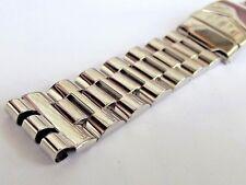 bracciale acciaio lucido x SWATCH IRONY CRONO doppia chiusura ansa 19 mm