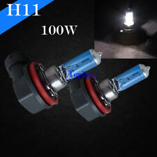 H11 Bright White 5000K 100w Xenon Halogen Headlight 2x Light Bulb Low Beam